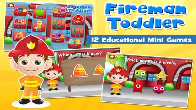 Fireman Toddler School Free poster