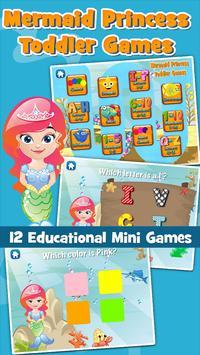 Mermaid Princess Toddler Games apk screenshot
