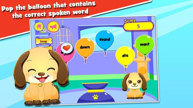 Kids Reading Sight Words apk screenshot