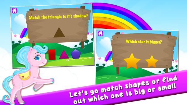 Pony Learns Preschool Math apk screenshot
