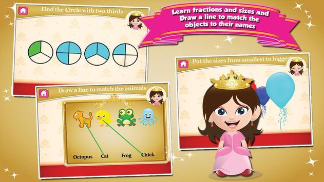Princess First Grade Games apk screenshot