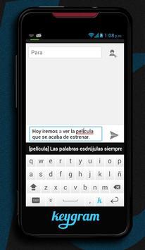 Keygram apk screenshot