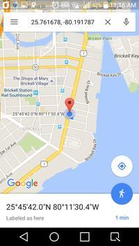 Simple GPS Coordinate Display screenshot 1