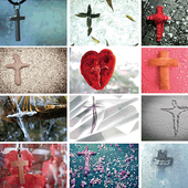 Jesus, Kreuz,Evangelium_German icon