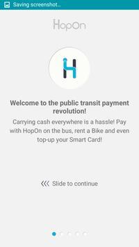 HopOn - charge your RavKav poster