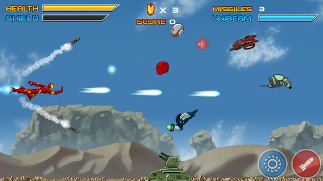 Iron Robo - Armored Justice Red Man apk screenshot