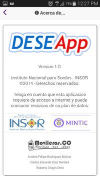DeseApp apk screenshot