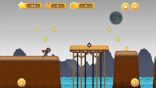 Ninja Jump and Run Game screenshot 1