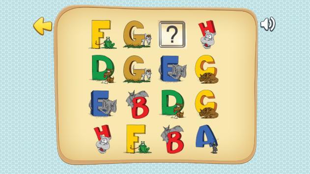 ABC Memory Game for Kids screenshot 3