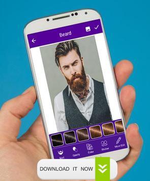 Man Face Editor Mustache & Beard screenshot 2