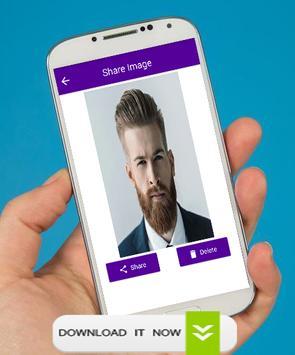 Man Face Editor Mustache & Beard screenshot 4