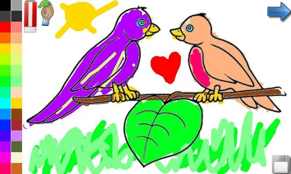 Coloring Book: Birds ! FREE apk screenshot