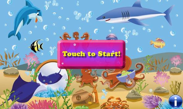 Fishes Puzzles for Toddlers -Puzzle Games for Kids poster