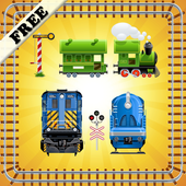 Toy Train Puzzles for Toddlers - Kids Train Game icon