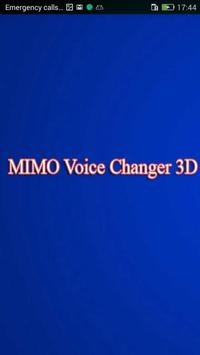 MIMO Voice Changer 3D poster