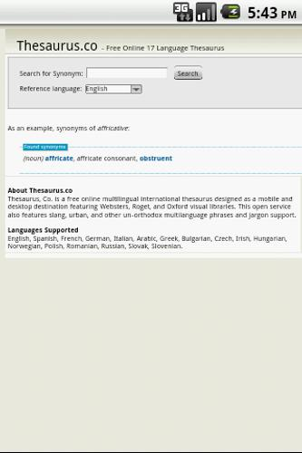 17 Language Thesaurus for Android - APK Download