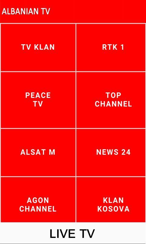 Albanian Tv Live Für Android Apk Herunterladen