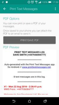 Print Text Messages apk screenshot