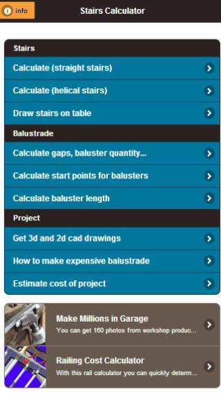 Balustrade + Stair Calculator for Android - APK Download