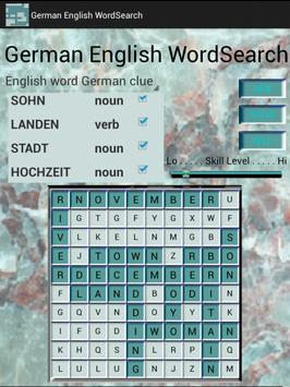 German English WordSearch apk screenshot