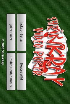 ShrinkRay Video Poker Lite poster