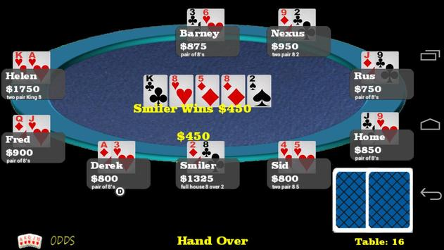 WiFi Poker Free apk screenshot