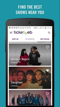 TicketWeb UK - Get tickets! screenshot 3