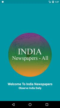 India Newspapers poster