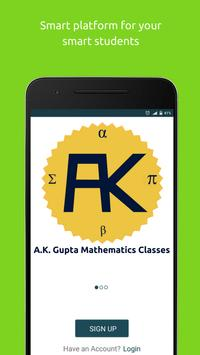 A.K. Gupta Mathematics Classes poster