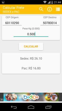 Calcula Frete SEDEX PAC poster