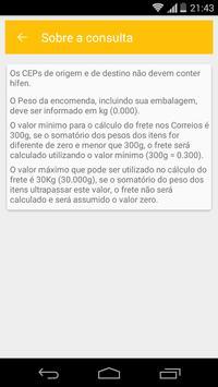Calcula Frete SEDEX PAC screenshot 2