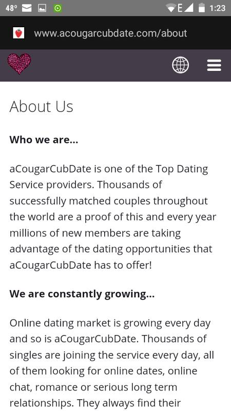 cougars and cubs dating online