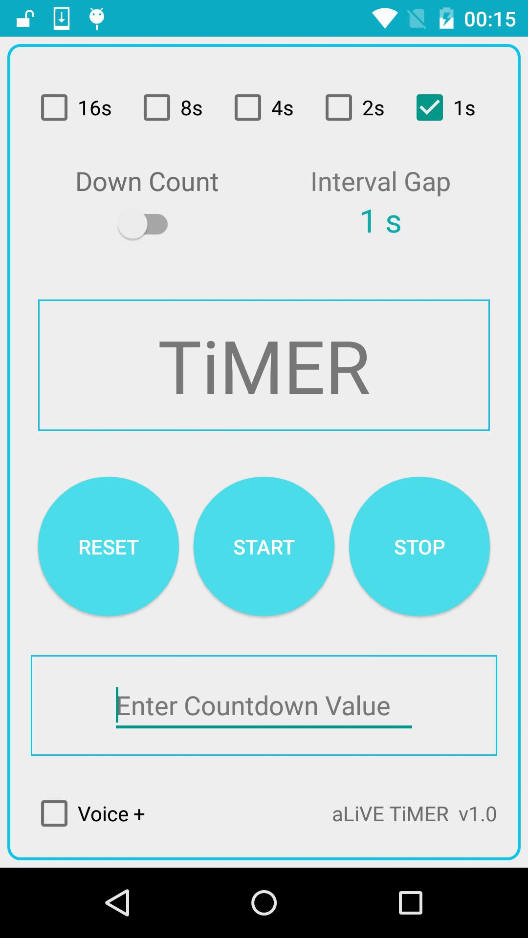 Voice Assisted Countdown Timer (Yoga/Gym) for Android - APK