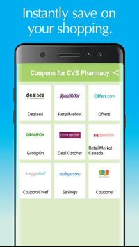Coupon for CVS Pharmacy poster