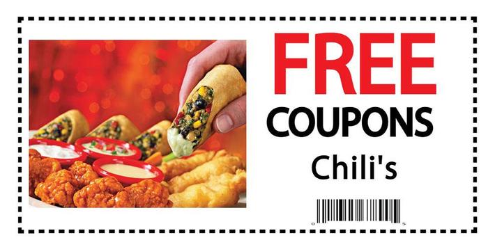 Coupons for Chili's poster