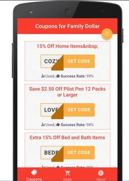 free coupons for family dollar poster