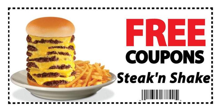 Coupons for Steak 'n Shake poster