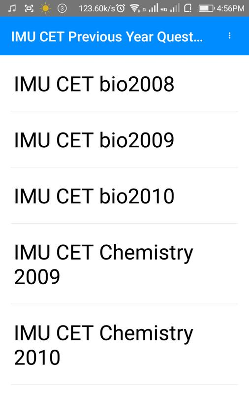 imu cet previous year sample papers for android apk download
