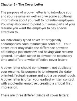 cover letter apk screenshot - Purpose Of Resume Cover Letter