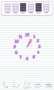 Scribbles Purple Analog Clock poster