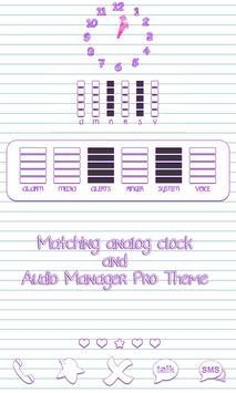Scribbles Purple Analog Clock screenshot 1