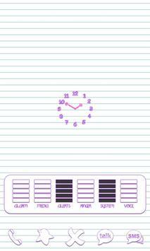 Scribbles Purple Analog Clock screenshot 3