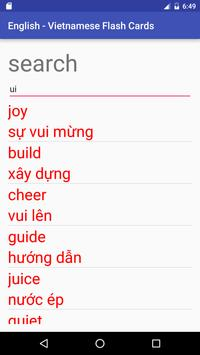 Eng Vietnamese Flash Cards apk screenshot