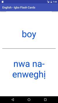 Eng Igbo Flash Cards apk screenshot