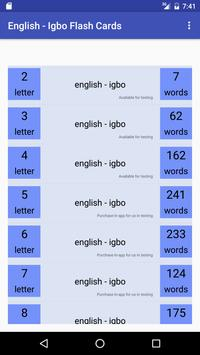 Eng Igbo Flash Cards poster