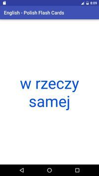 Eng Polish Flash Cards apk screenshot