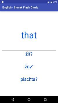 Eng Slovak Flash Cards apk screenshot