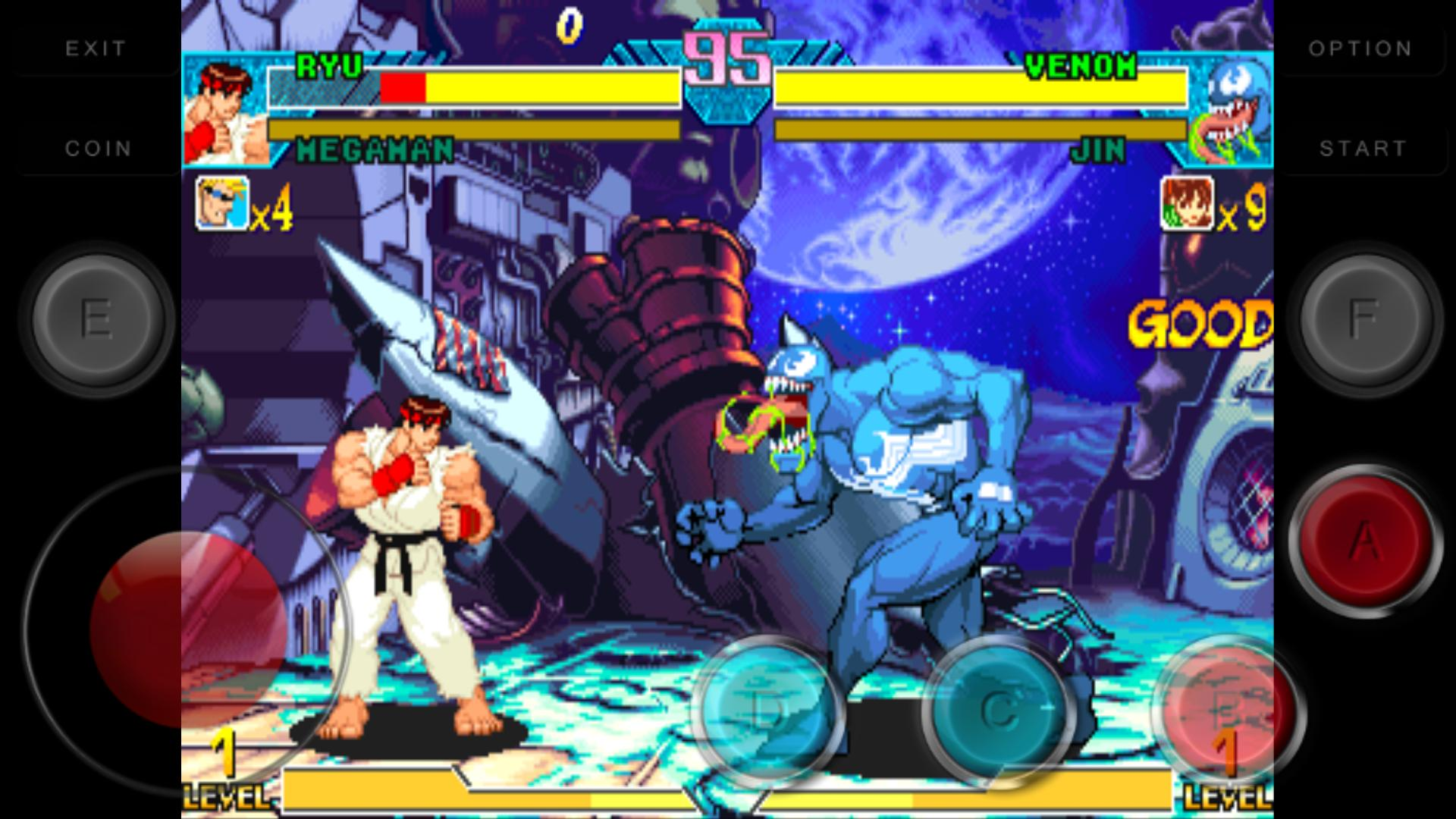 Code Marvel vs Capcom: Clash of Super Heroes for Android