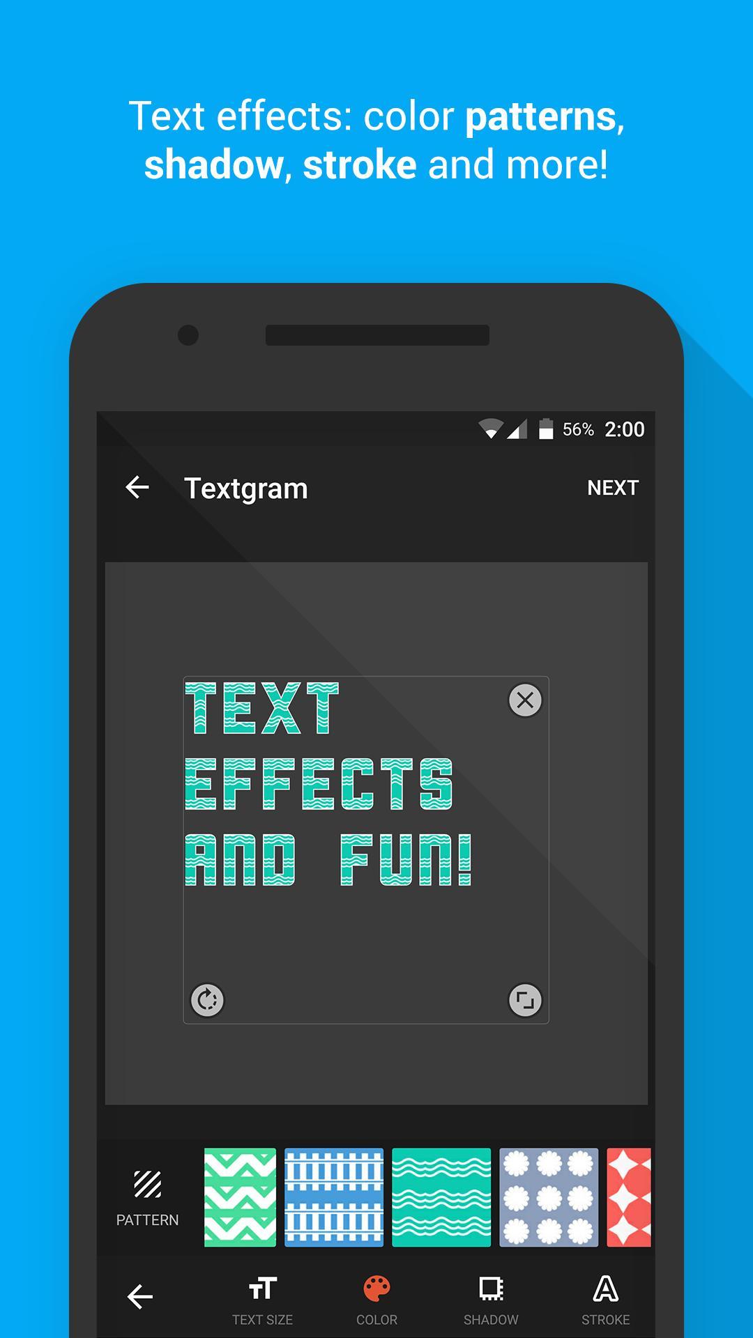 Textgram poster