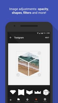 Textgram - write on photos apk screenshot